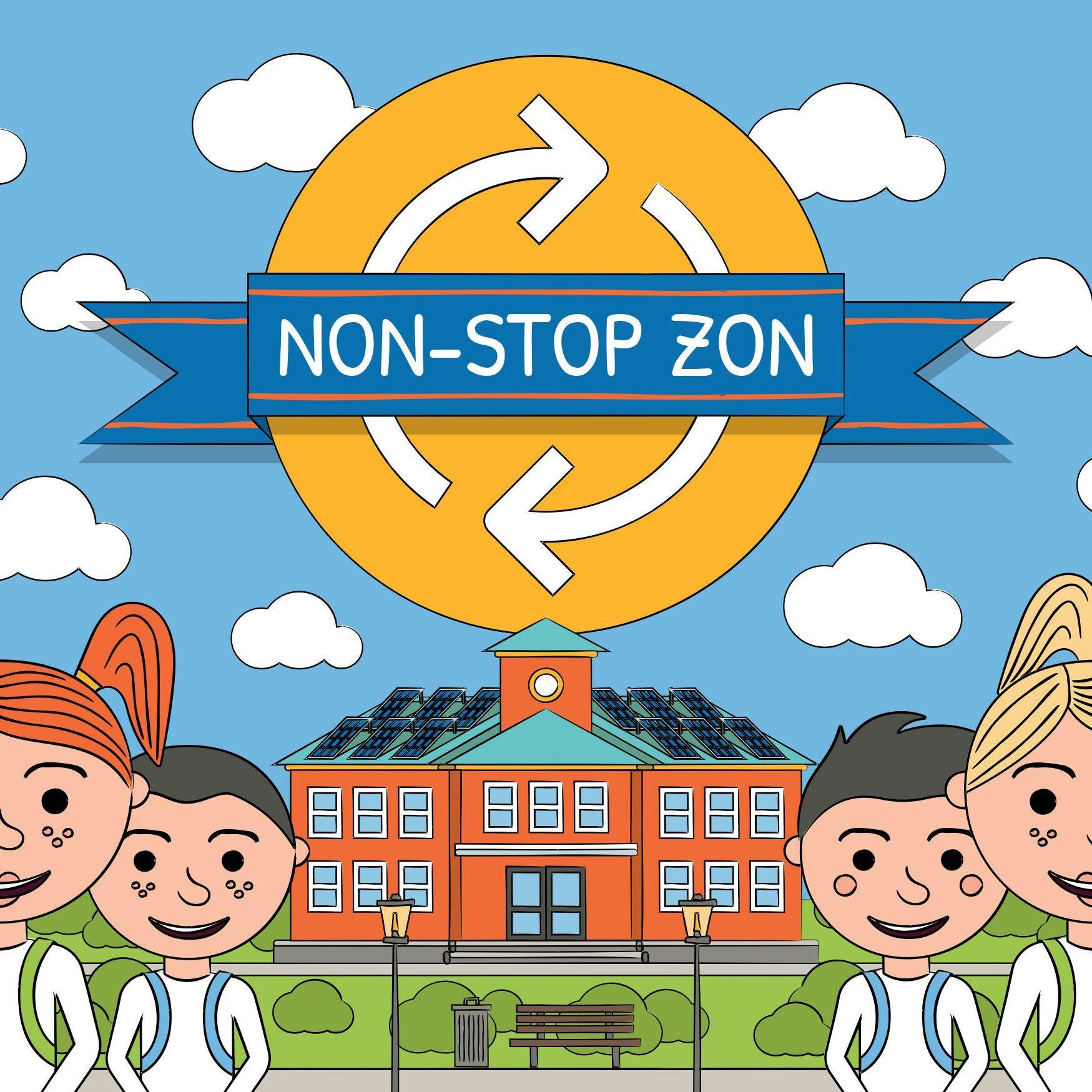 SDR_Non-Stop Zon_kaart-voorkant
